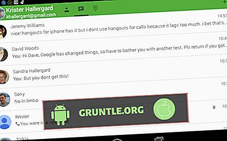 Google Hangouts ile Wi-Fi Çağrısı Alma SIM Kartsız Ücretsiz