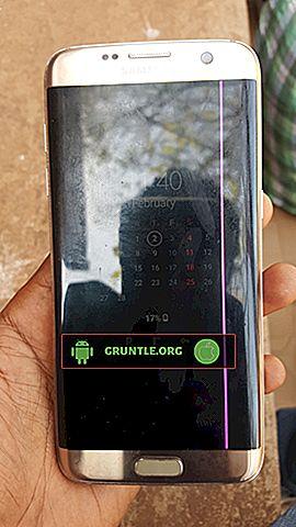 حل سامسونج غالاكسي S7 حافة الشاشة الخفقان بعد إسقاط