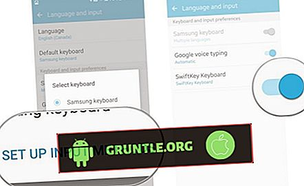 Cara mengatur keyboard Swipe Up di Galaxy S7 Edge |  mengaktifkan pengetikan Geser atau Lacak