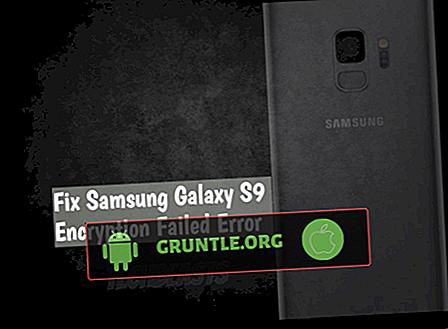 Error resuelto de cifrado de Samsung Galaxy S9