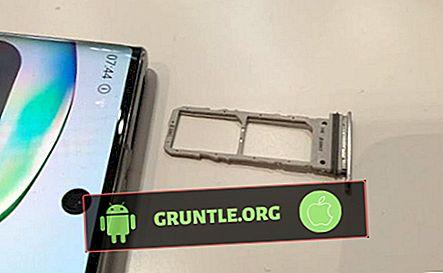 So legen Sie eine SIM-Karte in das Galaxy Note10 + ein oder entfernen sie |  Einfache Schritte zum Trennen oder Hinzufügen der SIM-Karte