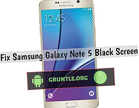Comment réparer le Samsung Galaxy Note 5 avec un écran noir et ne répondant pas, autres problèmes d'affichage
