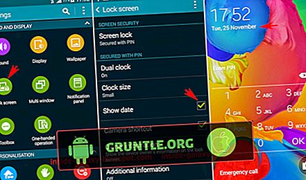 La pantalla de bloqueo del Samsung Galaxy S4 no muestra la fecha