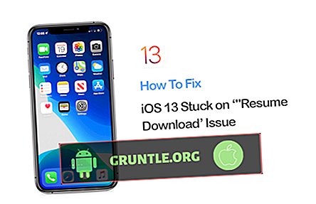 Apple iPhone iOS 13-uppdateringen fastnar vid Resume Download