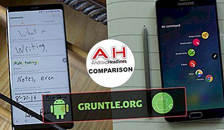 So sánh thông số kỹ thuật của Galaxy Note 8 vs Note 5